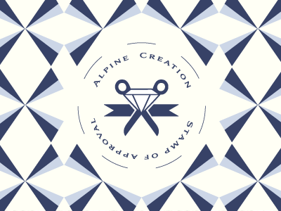 jeweler WIP logo elements imagery design.illustration branding vector pattern blue light blue diamond scissor ribbon circle stamp