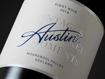Austin's logotype wine logo type lettering typography logo branding label packaging logotype
