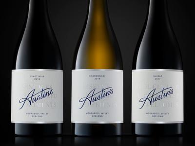 Austin's logotype_2 alcohol branding wine label type lettering typography logo design branding label logotype