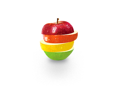Nutrition Icon icon logo vector photoshop illustration nutritionist health red orange yellow green apple texture