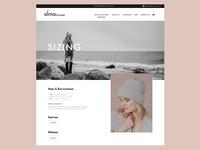 Alma sizing page