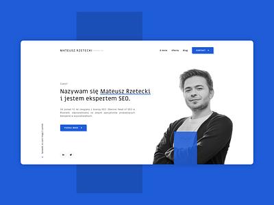 Mateusz Rzetecki. Web Design. webdevelopment webapp website design web ux ui website design webdesign