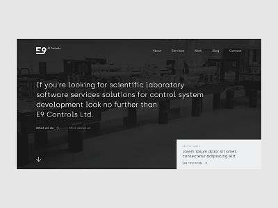E9 Controls. Web Design & Web Development. branding logo website design web ux ui website webdevelopment webdesign