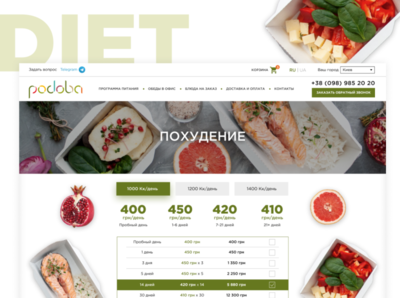 Healthy Food Delivery Website