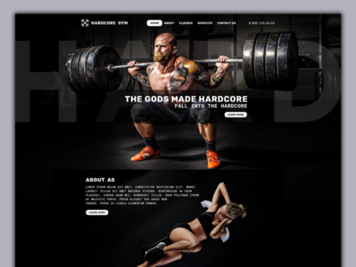 Gym Lading Page Design