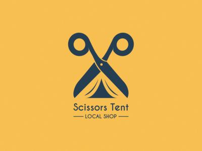 Scissors Tent brand identity brand design vector logo design illustrator illustration logobranding logo design branding