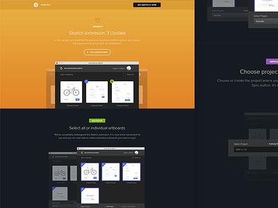 Landing page Sketch ux ui product landing page changelog avocode sketchapp sketch design flat web website