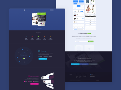 Guacamole landing page avocode website dark design nifty illustrations nifty icons pack landing page ux ui design ui kit ui kit landing page