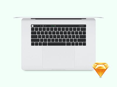 Macbook Pro with touchbar minimalistic free spotify macbook touchbar sketch mockup mockup sketch sketch file design macbook 2016 macbook pro tauchbar