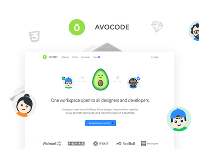 Avocode landing page manager designers developer illustration icons landing page product page avocode landing page avocode