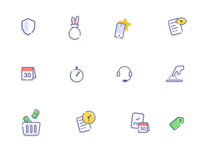 clean icons for twisto