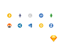 Free crypto icons for sketch