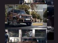 Mercedes Benz landing pae