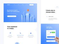 Clean landing page