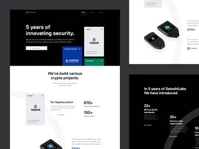 Clean landing page clean app design clean design clean app landing satoshilabs trezor blockbook password manager crypto crypto currency hardware wallet ui ui  ux cards