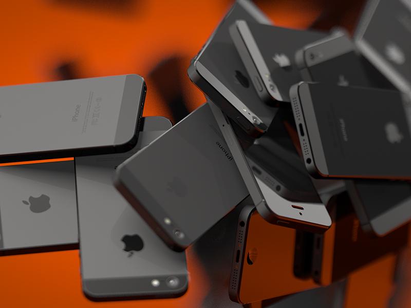 Smartphone Still cinema 4d dof iphone 3d