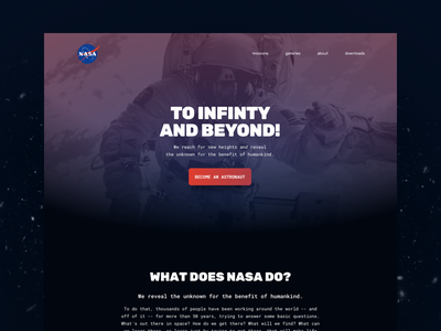 Landing page // 003 DailyUI Challenge astronaut universe space nasa ux ui day 003 daily challenge page landing landingpage dailyui