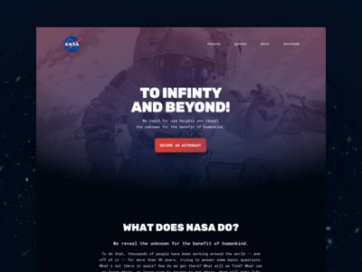 Landing page // 003 DailyUI Challenge astronaut universe space nasa ux ui day 003 daily challenge page landing landingpage dailyui