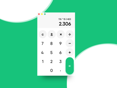 Calculator // 004 DailyUI Challenge