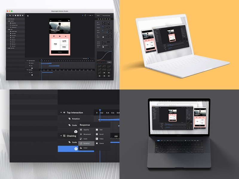 My Top4Shots of 2018 interface software ux concept meaningful motion design design prototyping user interface ui animation animation ui