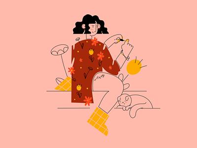 """my life - my rules"" web illustration characterdesign vectorart vectornator 2d 2d character character design character procreate adobe illustrator flat vector illustration app illustration"