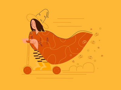 🎃 Halloween soon  🎃 app illustration characterdesign character vector art vectornator procreate adobe illustrator 2dillustration flat illustration flat vectorart vector illustration