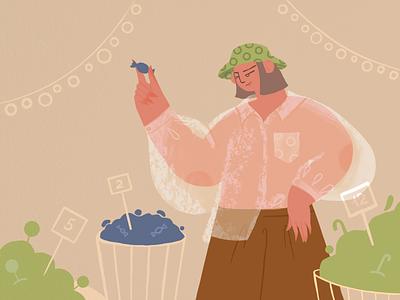 Candy store 🍭 #artmash people flat vector vectorart characterdesign character web illustration app illustration illustration procreate artmash