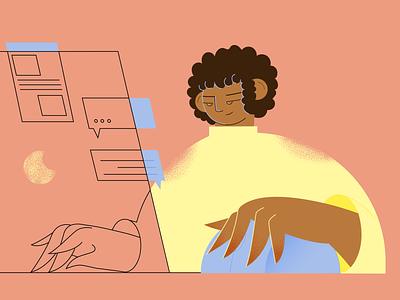 work work work procreate people 2d 2dillustration flat web illustration app illustration character adobe illustrator vector illustration
