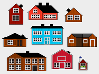 drawing Finnish houses