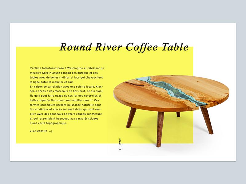 Designr — Product page home table concept ui ux parallax navigation webdesign app designr design interface