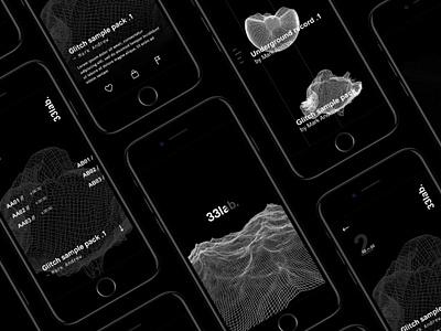 33lab — iOS app 2 iphone 7 ui sound prototype principle ios interaction experiment dark c4d app 33lab