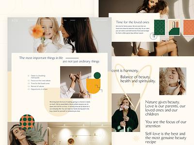 Accent  — Main page design minimal graphic design photography landing page web design interface branding clinic pastel beauty typogaphy fashion design web uiux interaction ui