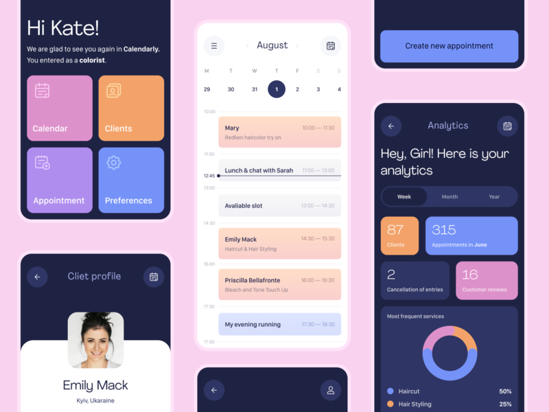 Task Planner App Concept planning planner task management analytics analytic shedule clean profile task calendar ui calendar beauty logo mobile ui app mobile design interaction uiux ui