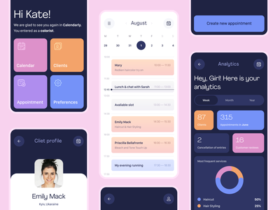 Task Planner App Concept planning planner task management analytics analytic shedule clean profile task calendar ui calendar beauty logo mobile ui app mobile design interaction uiux ui