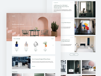 Furnify.  —  Ecommerce page concept interface interaction webdesign website web ui ux online shopping home design decor furniture ecommerce