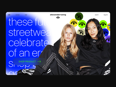 Alexander Wang x Adidas Originals — Main page Concept photoshop editorial sport adidas fashion branding uiux interaction ui ecommerce website web fashion main