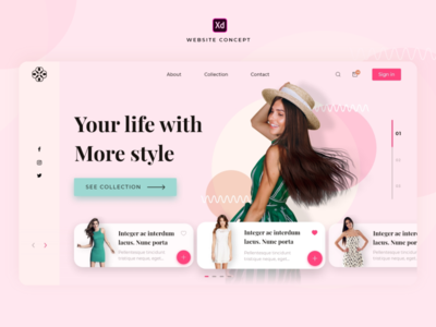Website Concept Women's Clothing Store
