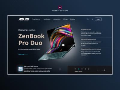 Website Concept Loja Asus