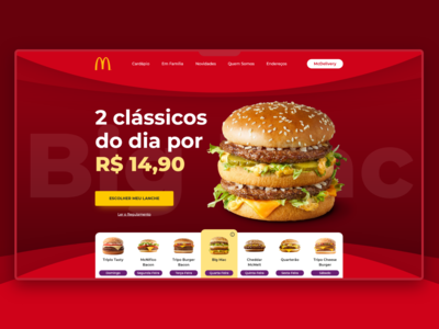 Website Concept Mc Donald's Brazil