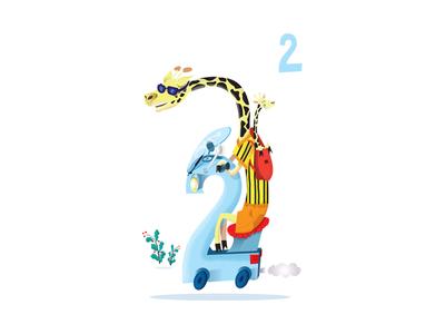 Motorcycle giraffes - number 2