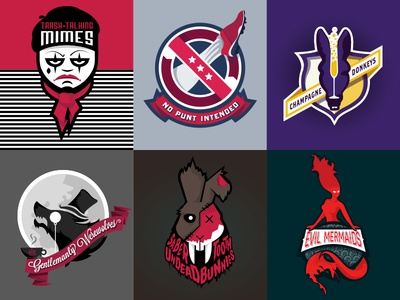 Fantasy Football Team Logos by Bill Gunter - Dribbble