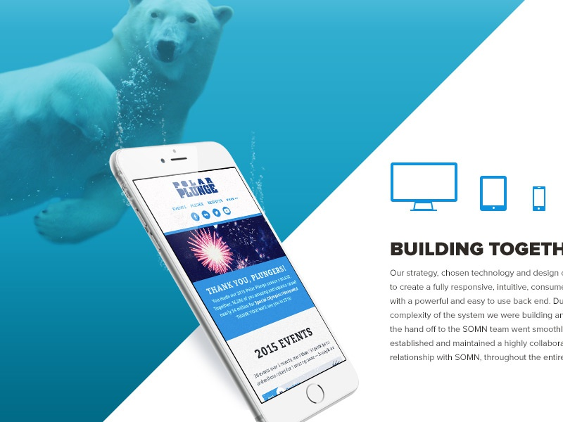 Case Study WIP special olympics responsive blue case study bear plunge polar