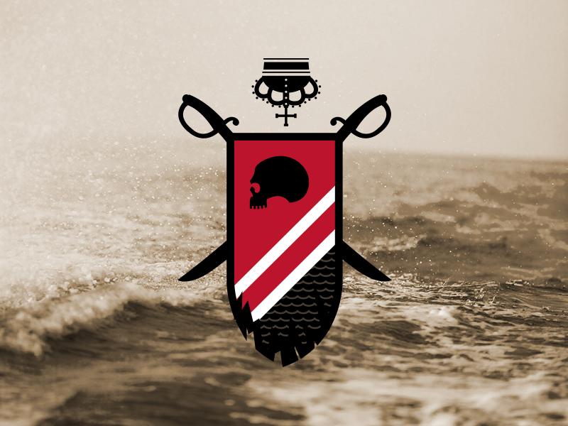 Tampa Bay fasf badge crown swords red pirate bucaneer tampa