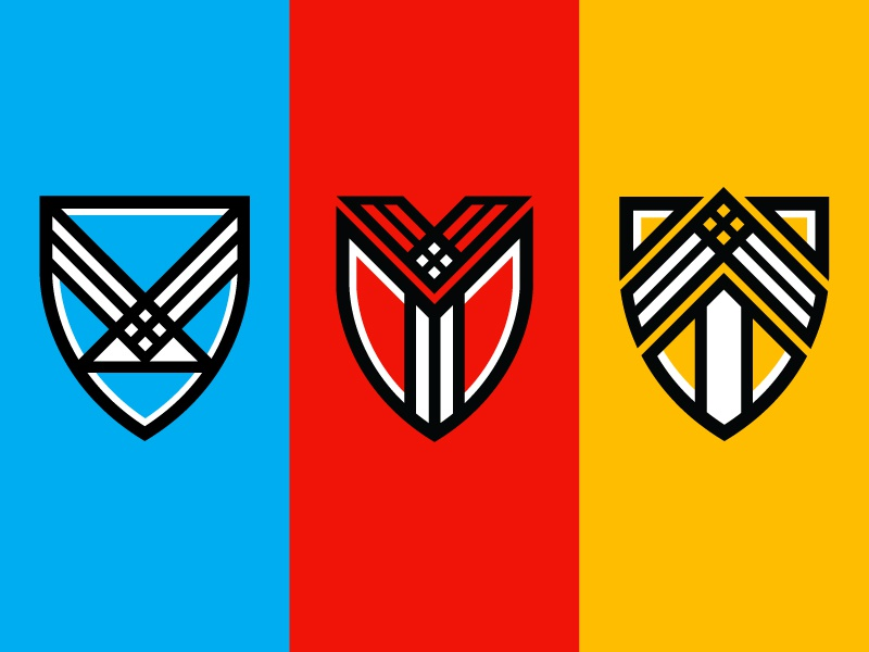 Brand Crests icon logo brand gold red blue crests