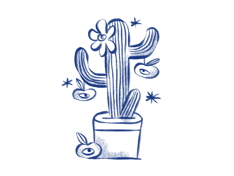 Merges and acquisitions fusion cactus plant illustration