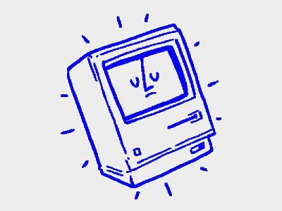 128K computer tiny retro mac old