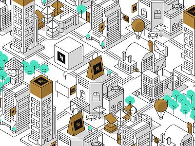 Tiny City simple city isometric