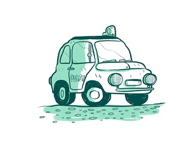 Fiat 500 tiny polizia car 500 fiat