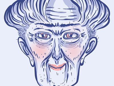 Old n classy lady illustration symmetry blush