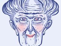 Old n classy lady